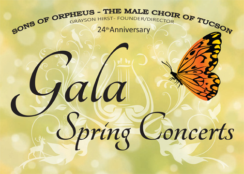 Sons of Orpheus 24th Anniversary Gala Spring Concerts